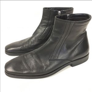 Bruno Magli Black Leather Raspino ankle boots 10.5